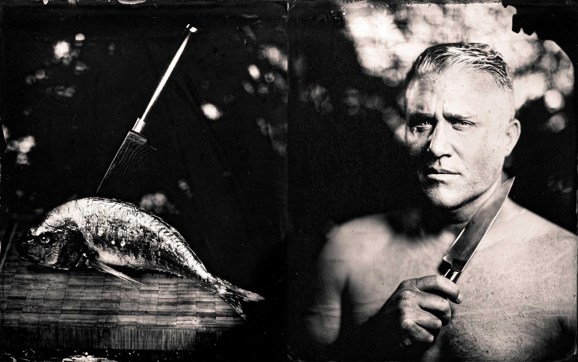 doug stabbed the fish